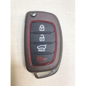 HYUNDAI, 4 кнопки, под чип, 433Mhz,FSK,  без лезвия(арт-R10)